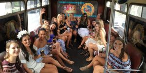 White Party Bus